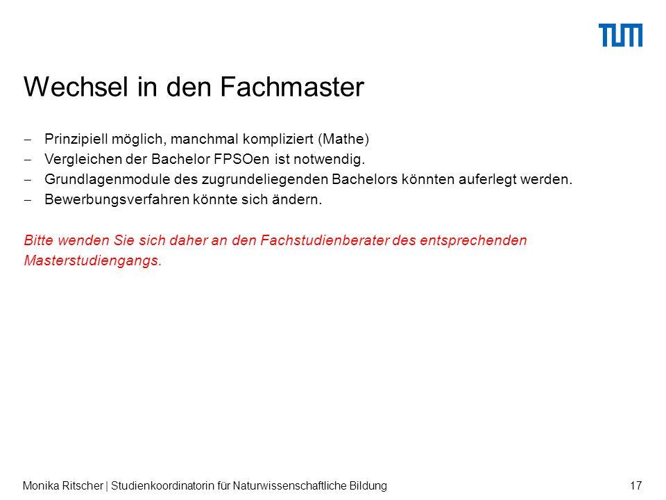  Prinzipiell möglich, manchmal kompliziert (Mathe)  Vergleichen der Bachelor FPSOen ist notwendig.