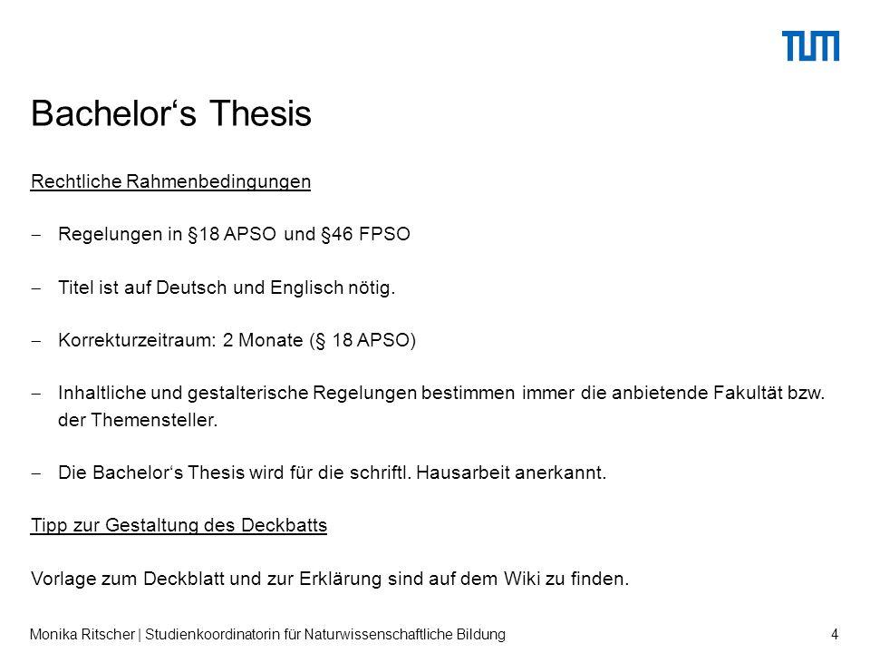 Rechtliche Rahmenbedingungen  Regelungen in §18 APSO und §46 FPSO  Titel ist auf Deutsch und Englisch nötig.