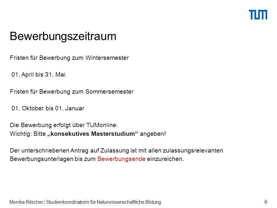 Fristen für Bewerbung zum Wintersemester 01. April bis 31.
