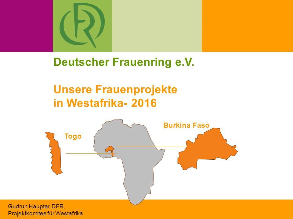 Bei der Arbeit im CJDA Gudrun Haupter, DFR, Projektkomitee für Westafrika Die Lehrlinge sind 15 bis über 30 Jahre alt.