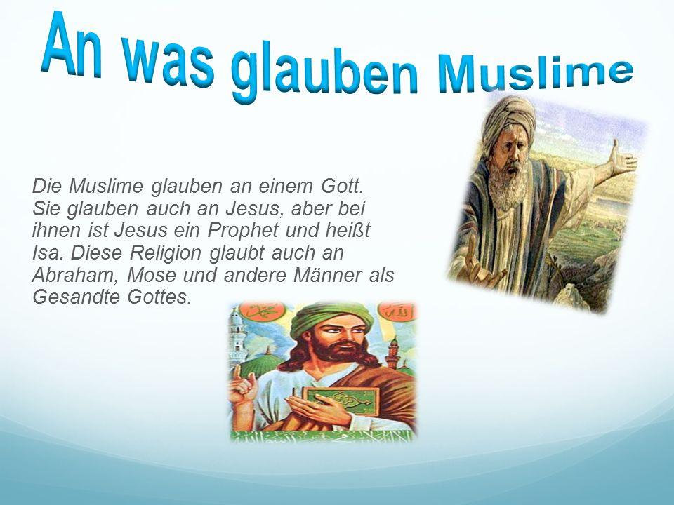 Das Heilige Buch heißt Koran. Der Koran zeigt ihnen, wie man betet und wie man mit anderen umgeht: Was man anziehen und essen soll. Für die Muslime is