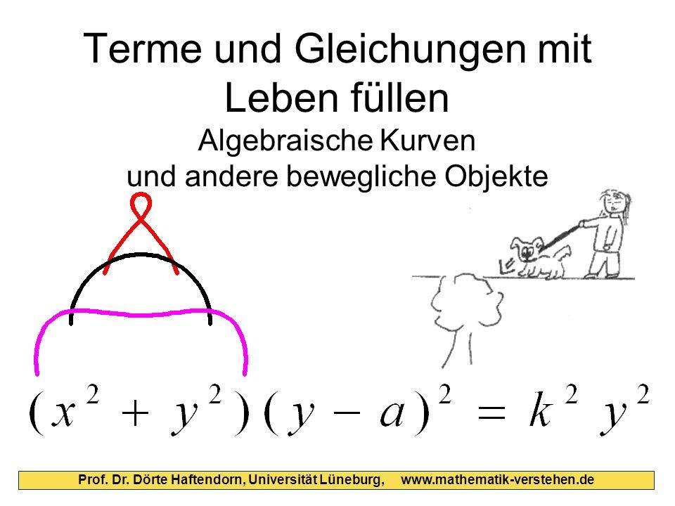 Terme und Gleichungen mit Leben füllen Algebraische Kurven und andere bewegliche Objekte Prof. Dr. Dörte Haftendorn, Universität Lüneburg, www.mathema