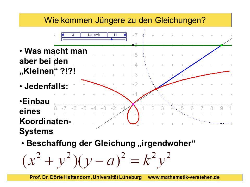 Wie kommen Jüngere zu den Gleichungen? Prof. Dr. Dörte Haftendorn, Universität Lüneburg www.mathematik-verstehen.de Jedenfalls: Einbau eines Koordinat