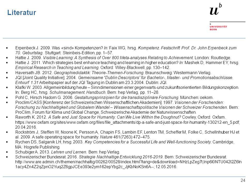 24  Erpenbeck J. 2009. Was «sind» Kompetenzen? In: Faix WG, hrsg. Kompetenz. Festschrift Prof. Dr. John Erpenbeck zum 70. Geburtstag. Stuttgart: Stei