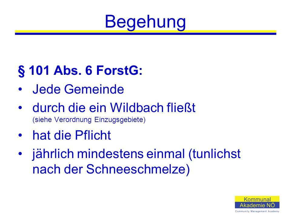 Begehung § 101 Abs.