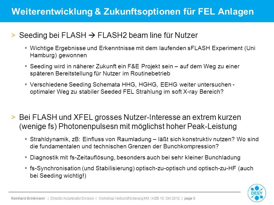 Reinhard Brinkmann | Director Accelerator Division | Workshop Verbundförderung KM | HZB 10.
