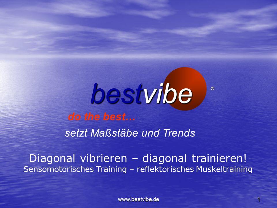 www.bestvibe.de1 bestvibe setzt Maßstäbe und Trends do the best… ® Diagonal vibrieren – diagonal trainieren.