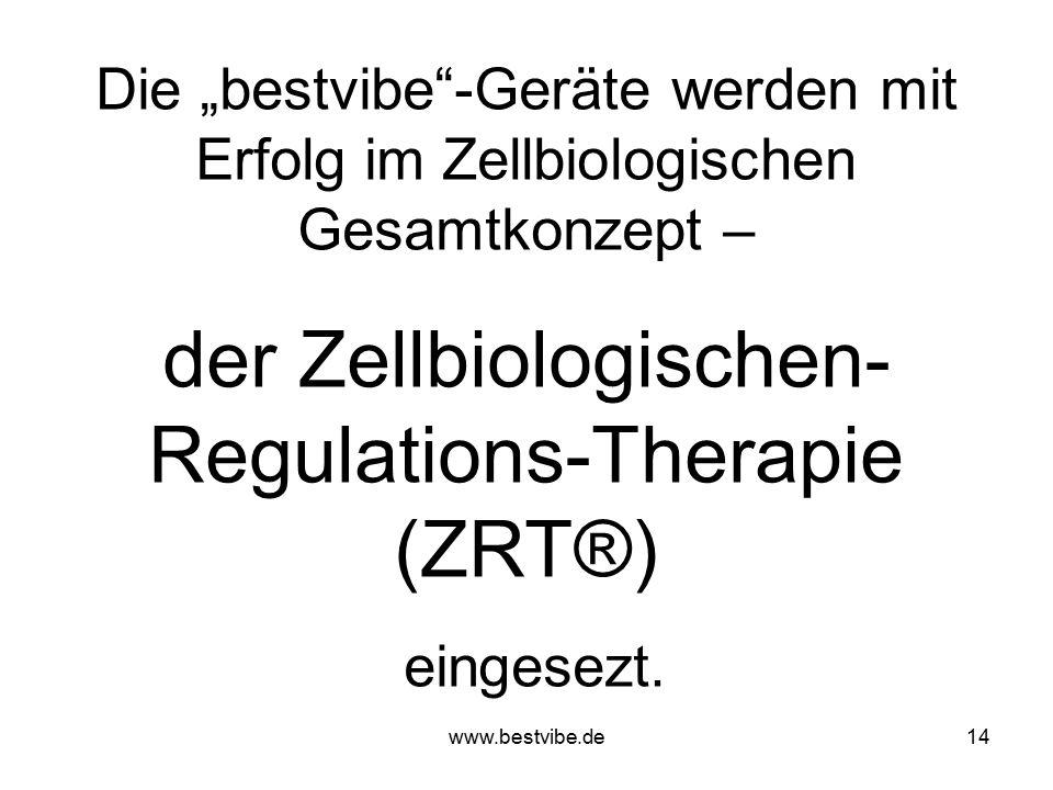 www.bestvibe.de13 Frequenz-Einsatzbereiche: 18 bis 22 Hz Einfluss auf das lymphatische System (Entstauung) 22 bis 24 Hz Aufwärmphase, Durchblutungsver