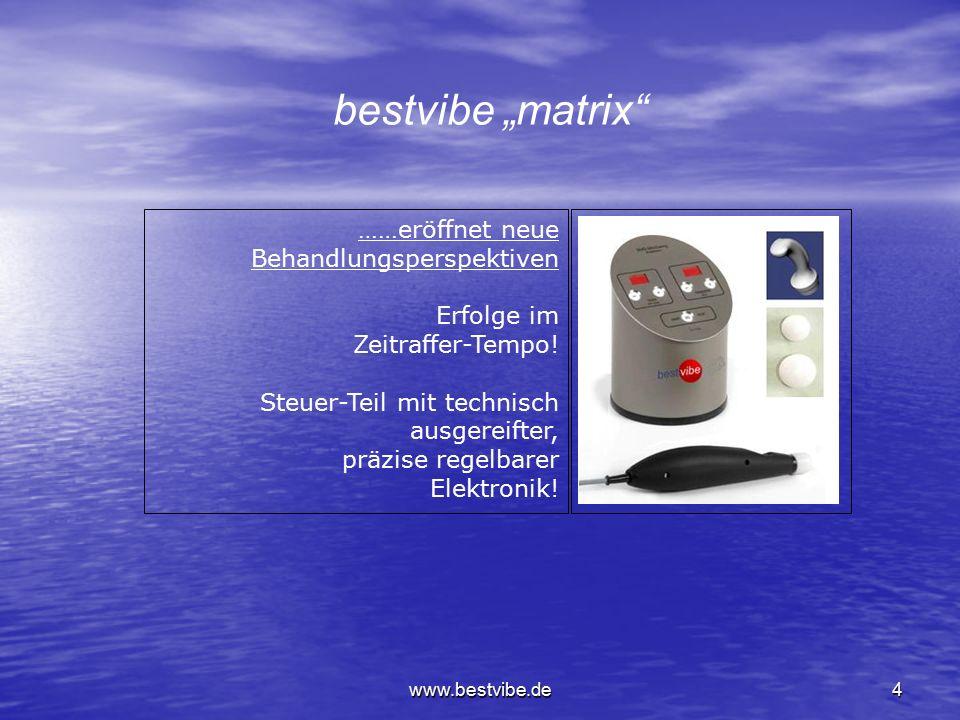 www.bestvibe.de4 ……eröffnet neue Behandlungsperspektiven Erfolge im Zeitraffer-Tempo.