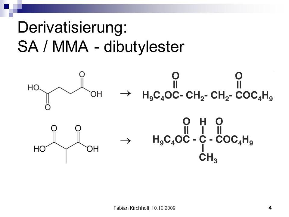 Fabian Kirchhoff, 10.10.20094 Derivatisierung: SA / MMA - dibutylester  