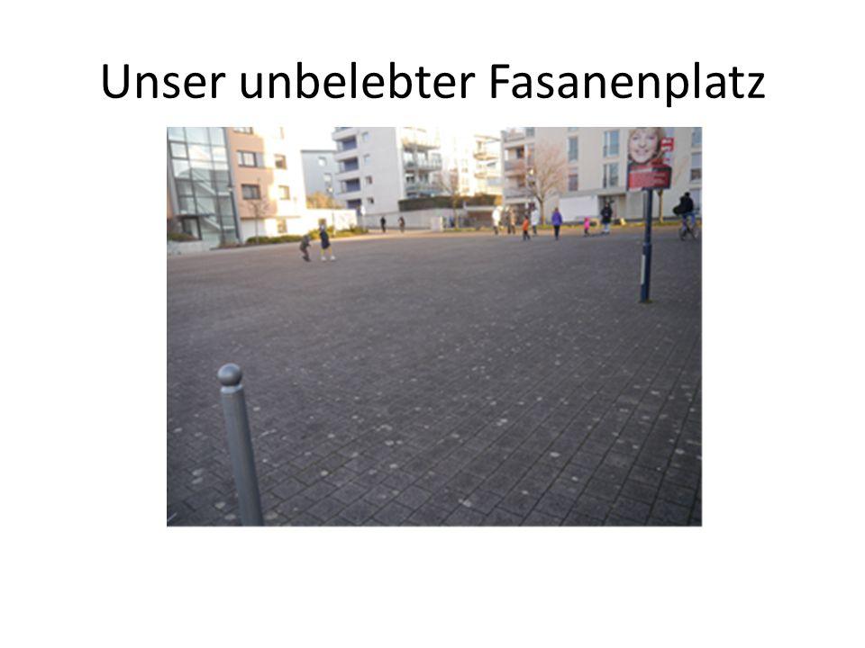 Unser unbelebter Fasanenplatz
