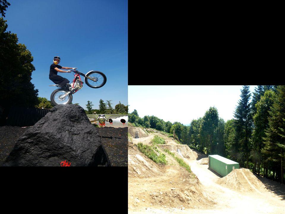 Wie auf den Fotos schon zu erkennen war, beinhaltet Trial X durchaus Elemente des Trialsports wie z.B.