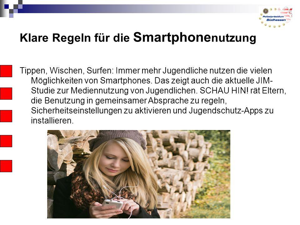 Klare Regeln für die Smartphone nutzung Tippen, Wischen, Surfen: Immer mehr Jugendliche nutzen die vielen Möglichkeiten von Smartphones.