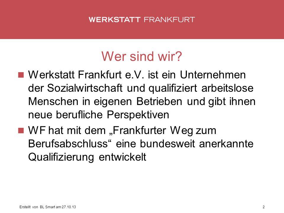Wer sind wir. Werkstatt Frankfurt e.V.