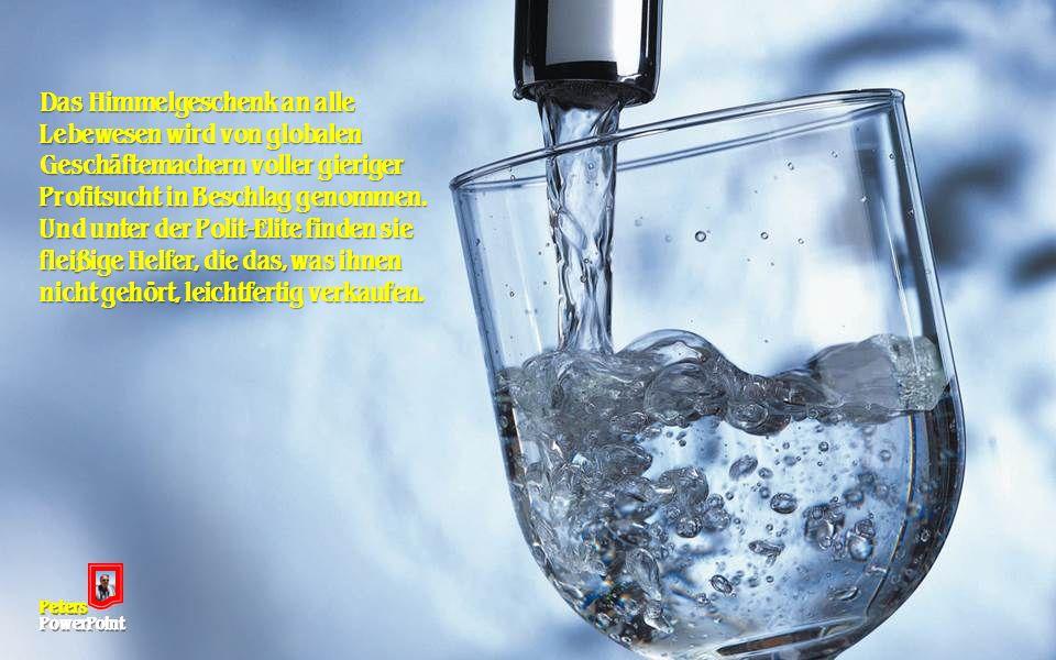Mit der Trinkwasserversorgung lässt sich ein gutes Geschäft machen.