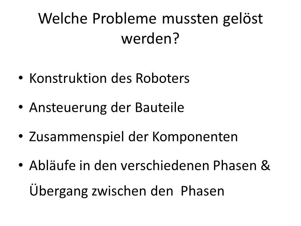 Welche Probleme mussten gelöst werden.