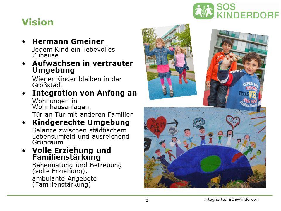 SOS-Kinderdorf Wien auf einen Blick Im SOS-Kinderdorf Wien leben insgesamt ca.