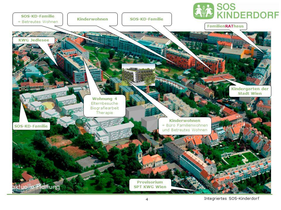Integriertes SOS-Kinderdorf Kinder leben mit ihren SOS- Kinderdorf-Eltern und ihren (Haus-)Geschwistern als SOS-Kinderdorf-Familie zusammen.