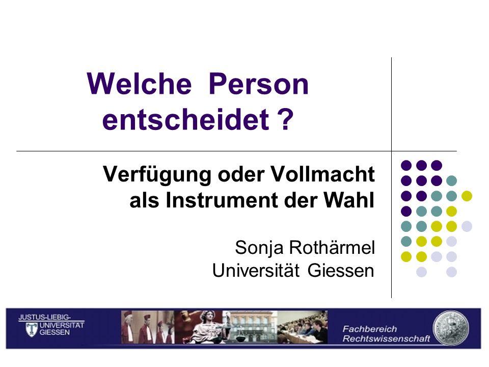 Sonja Rothärmel Welche Person entscheidet .