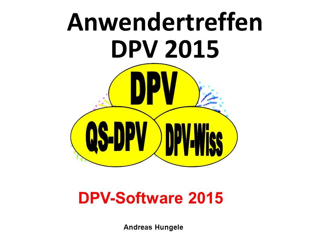 Anwendertreffen DPV 2015 Andreas Hungele DPV-Software 2015