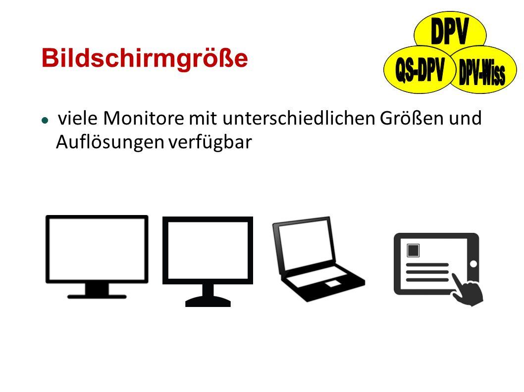 Bildschirmgröße viele Monitore mit unterschiedlichen Größen und Auflösungen verfügbar