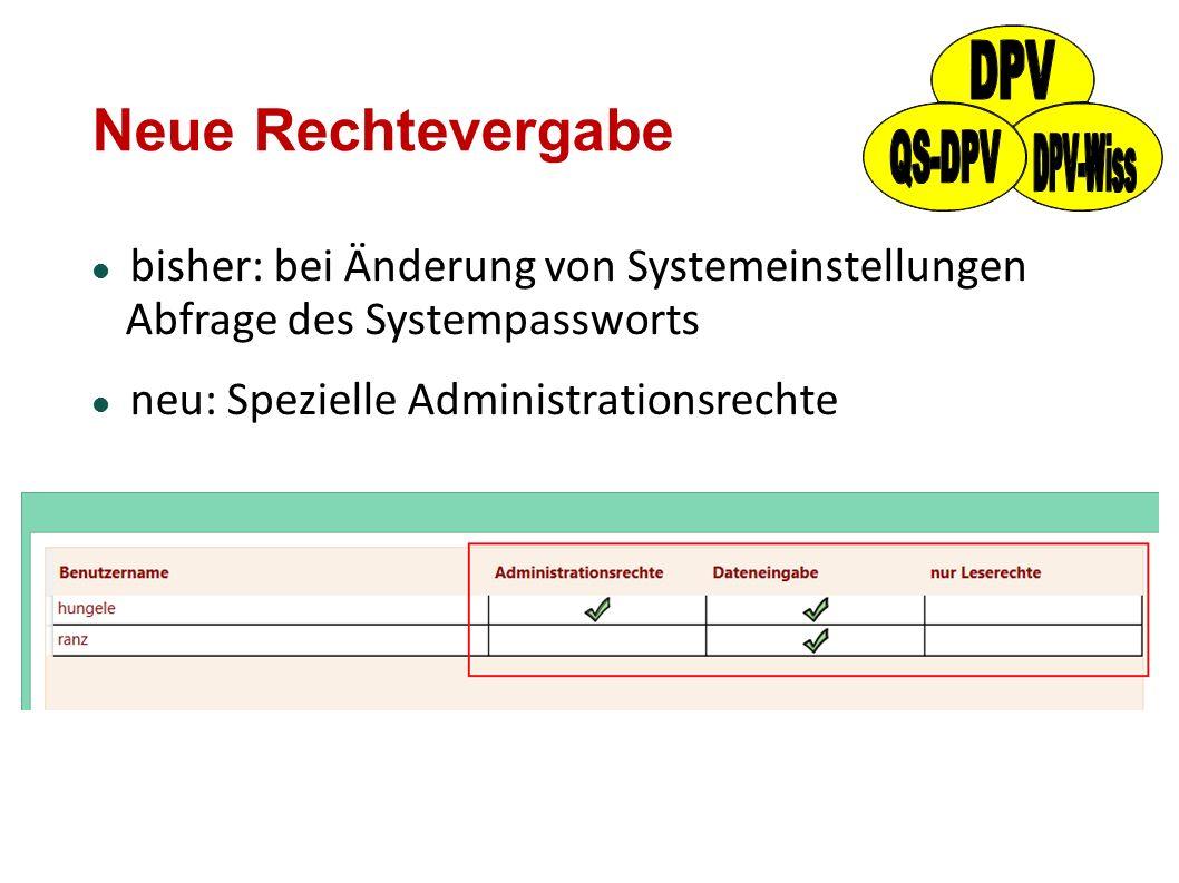 Neue Rechtevergabe bisher: bei Änderung von Systemeinstellungen Abfrage des Systempassworts neu: Spezielle Administrationsrechte