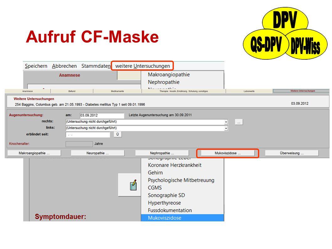 Aufruf CF-Maske