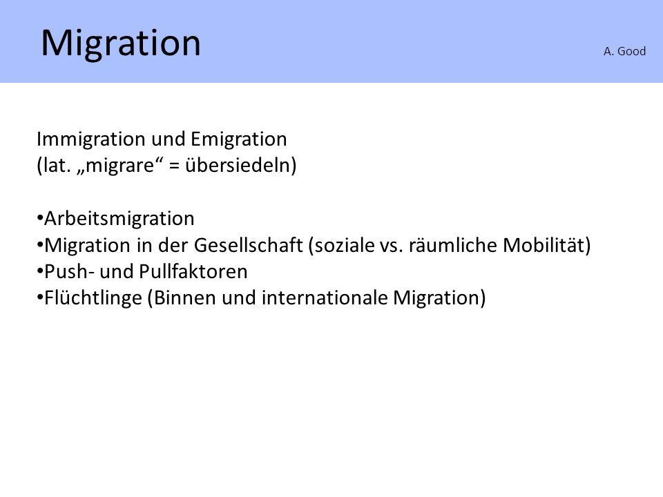 Arbeitsmigration A. Good Arbeitsmigration