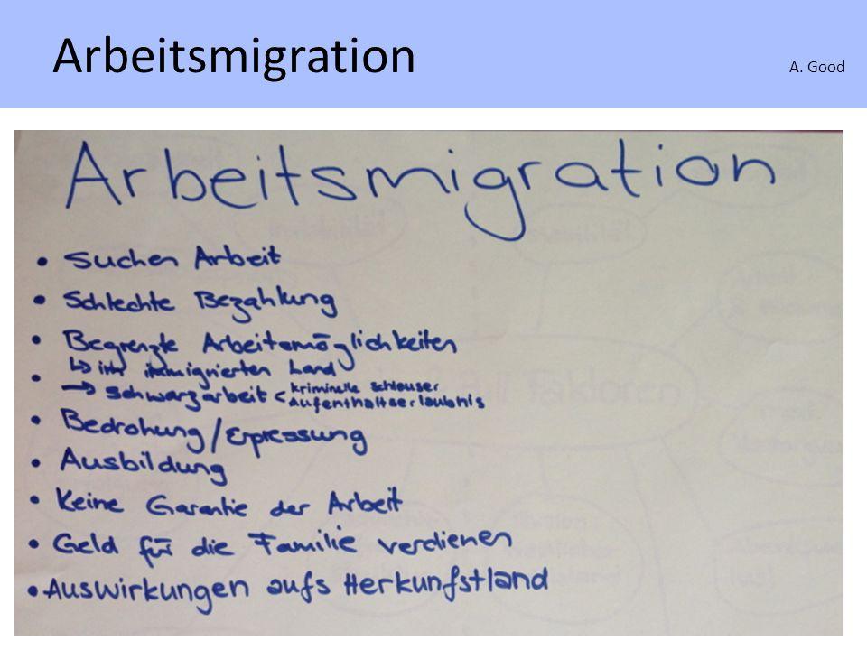 Migration in der Gesellschaft A. Good Migration in der Gesellschaft