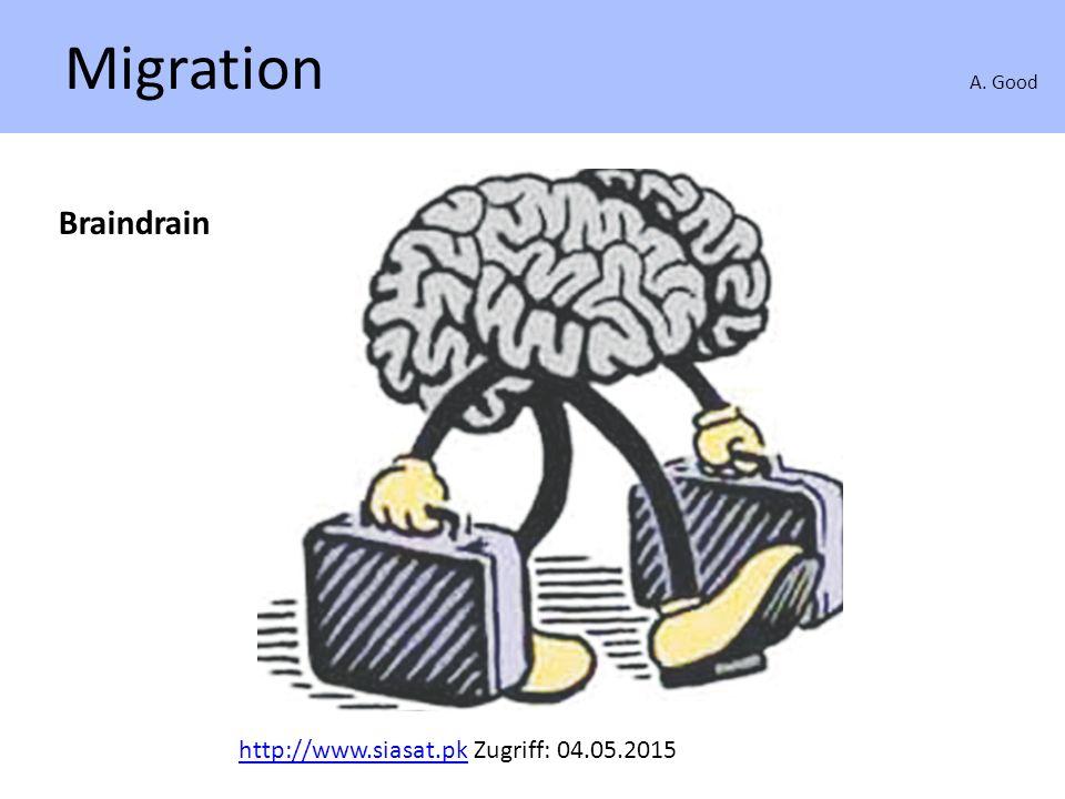 Migration A. Good Braindrain http://www.siasat.pkhttp://www.siasat.pk Zugriff: 04.05.2015