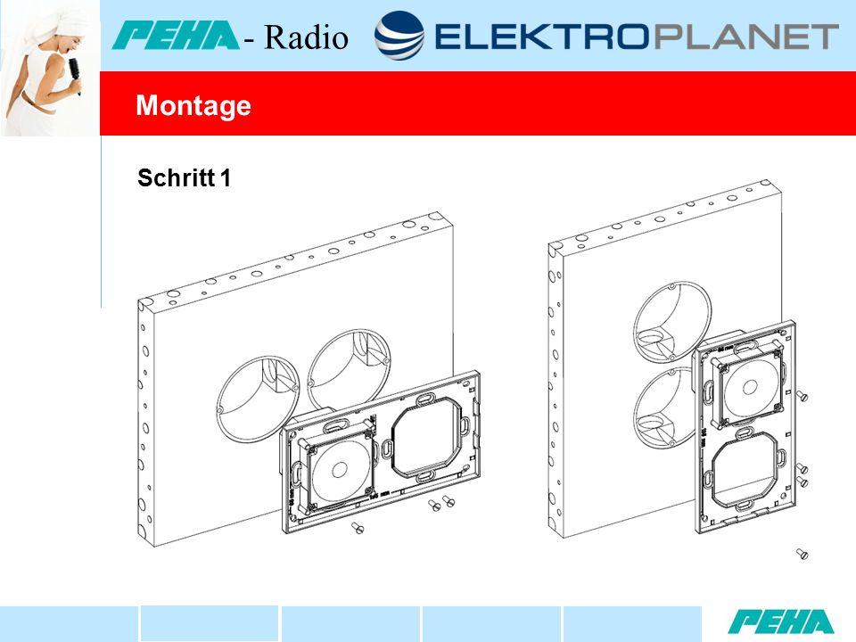 Schritt 1 Montage - Radio