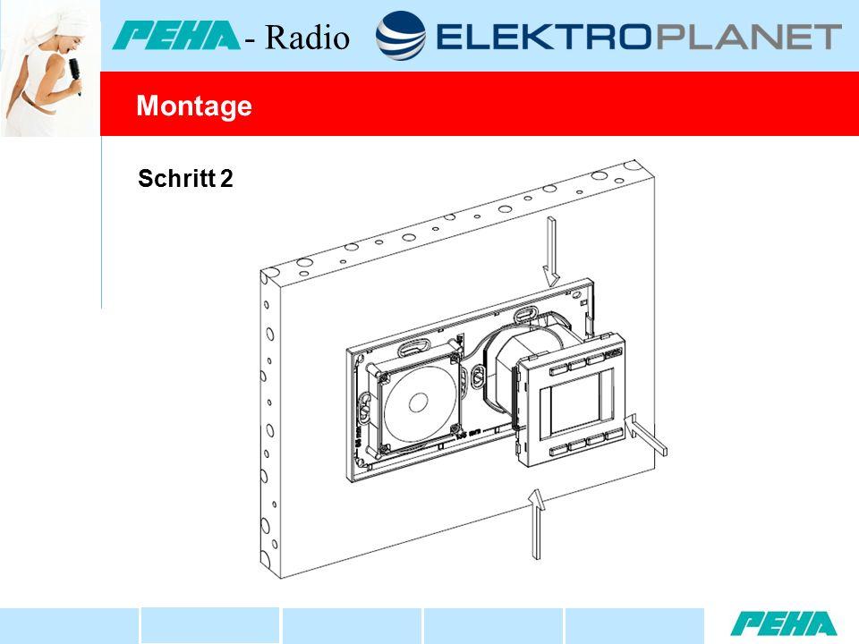 Schritt 2 Montage - Radio