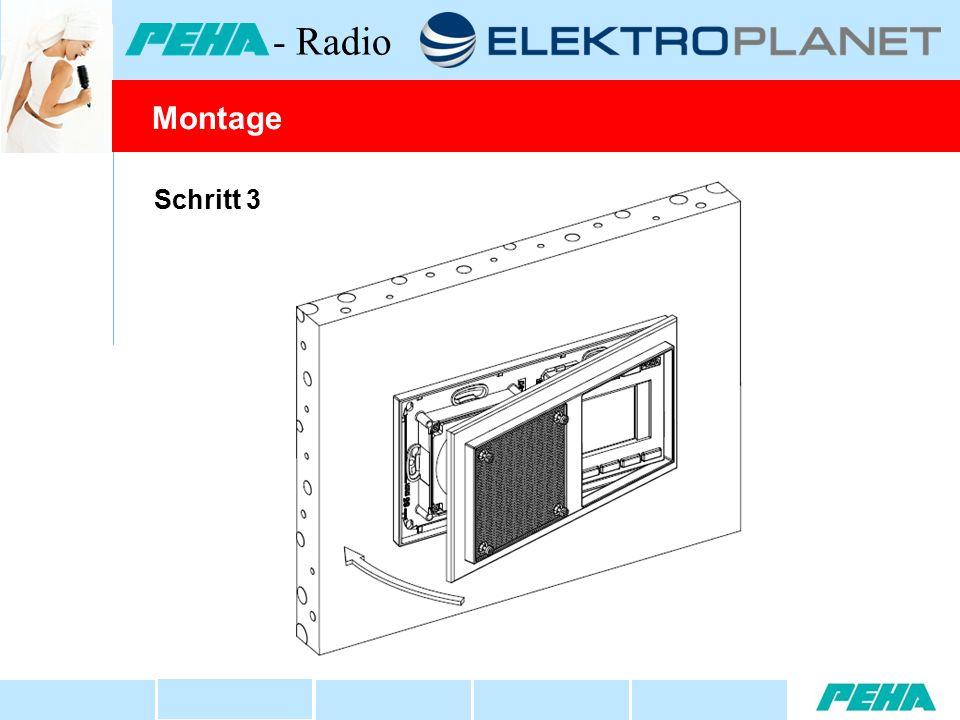 Schritt 3 Montage - Radio