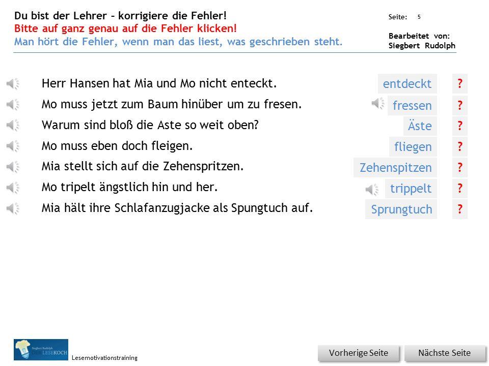 Übungsart: Seite: Bearbeitet von: Siegbert Rudolph Lesemotivationstraining 4 Silbenhammer Bitte klicken.