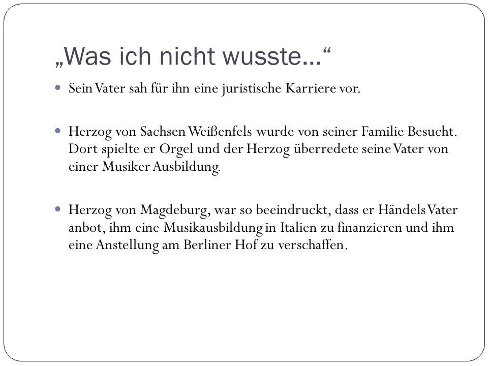 """""""Was ich nicht wusste…"""" Sein Vater sah für ihn eine juristische Karriere vor. Herzog von Sachsen Weißenfels wurde von seiner Familie Besucht. Dort spi"""