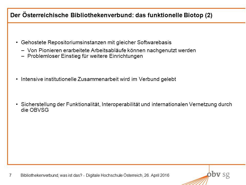 Bibliothekenverbund, was ist das. - Digitale Hochschule Österreich, 26.