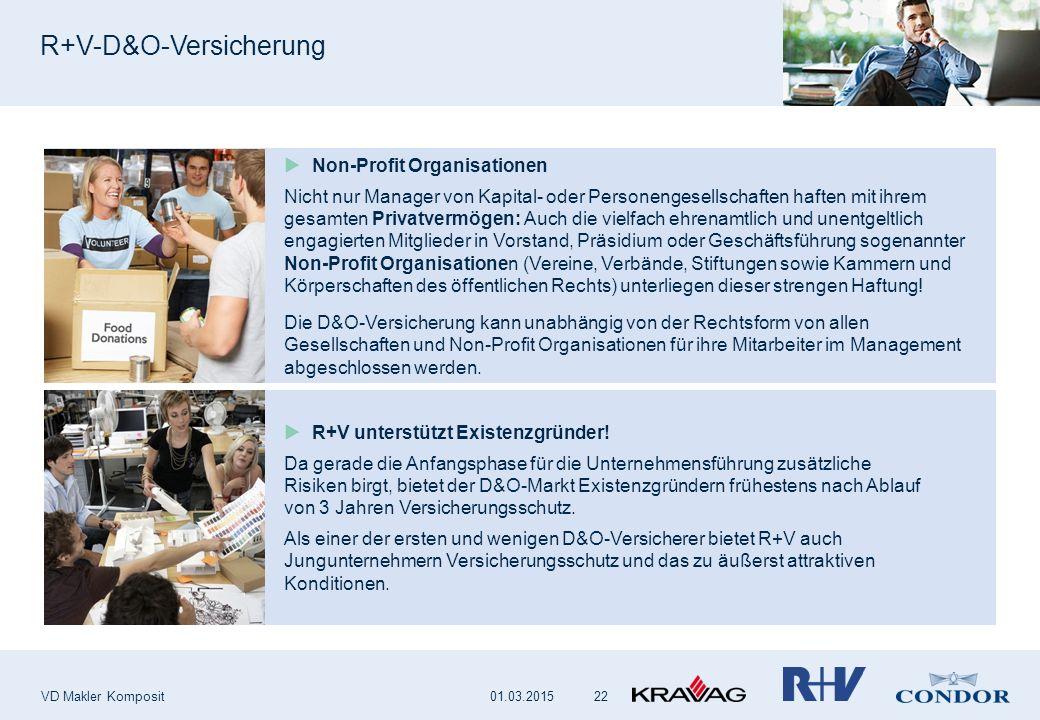 R+V-D&O-Versicherung VD Makler Komposit 22  Non-Profit Organisationen Nicht nur Manager von Kapital- oder Personengesellschaften haften mit ihrem ges