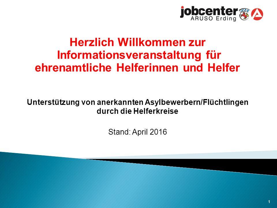 1.Rahmenbedingungen 2. Verfahren im Jobcenter 3. Arbeitslosengeld II, Kindergeld und Mietkosten 4.