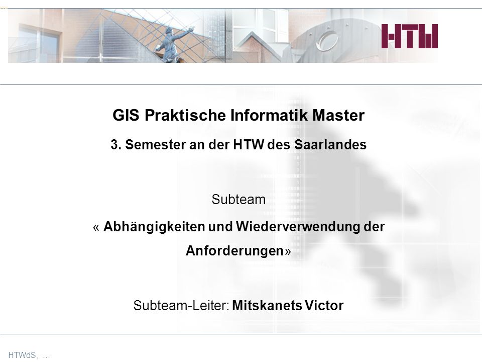 HTW GIS Praktische Informatik Master 3.