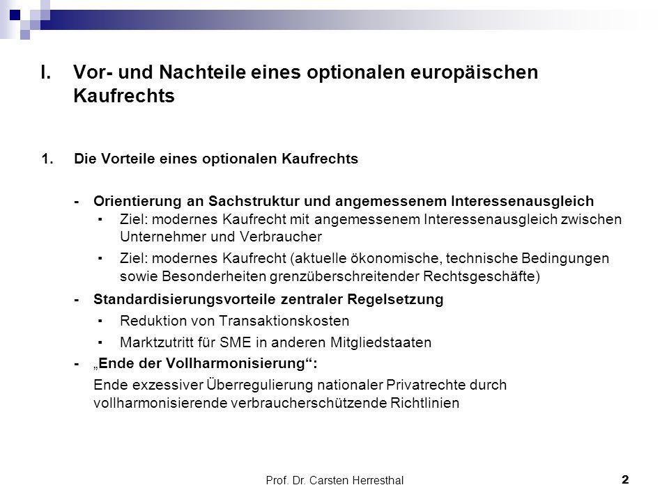 Prof. Dr. Carsten Herresthal I.