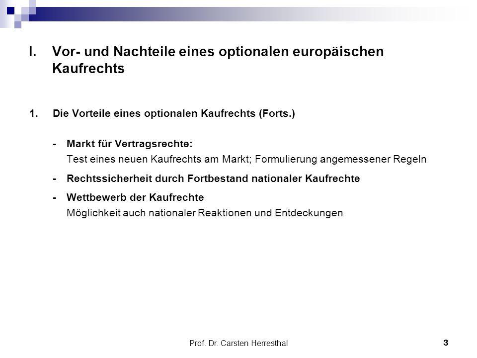 Prof.Dr. Carsten Herresthal I.