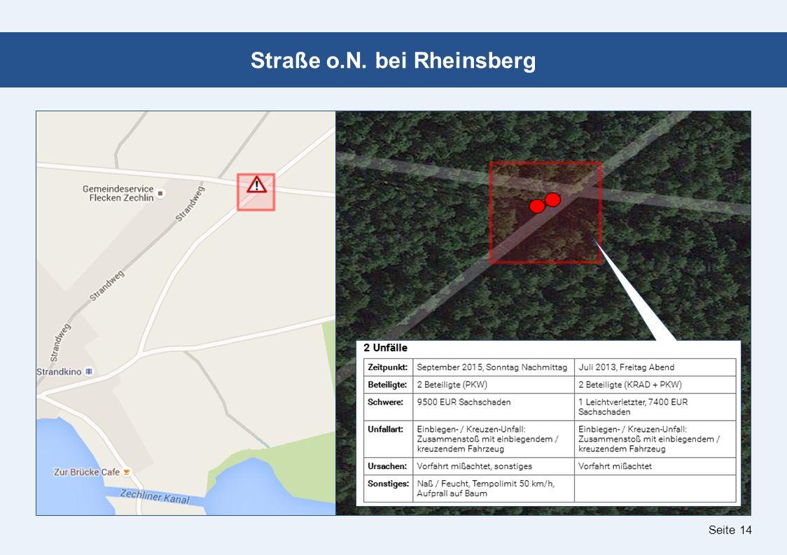 Seite 14 Straße o.N. bei Rheinsberg