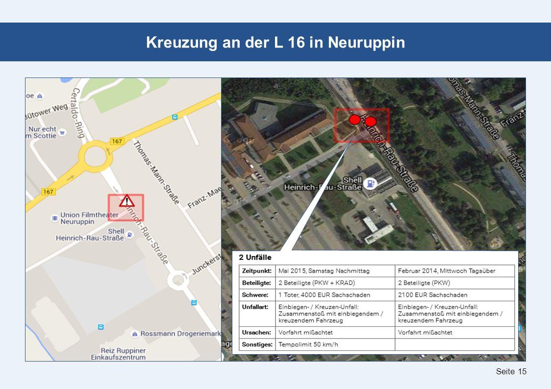 Seite 15 Kreuzung an der L 16 in Neuruppin