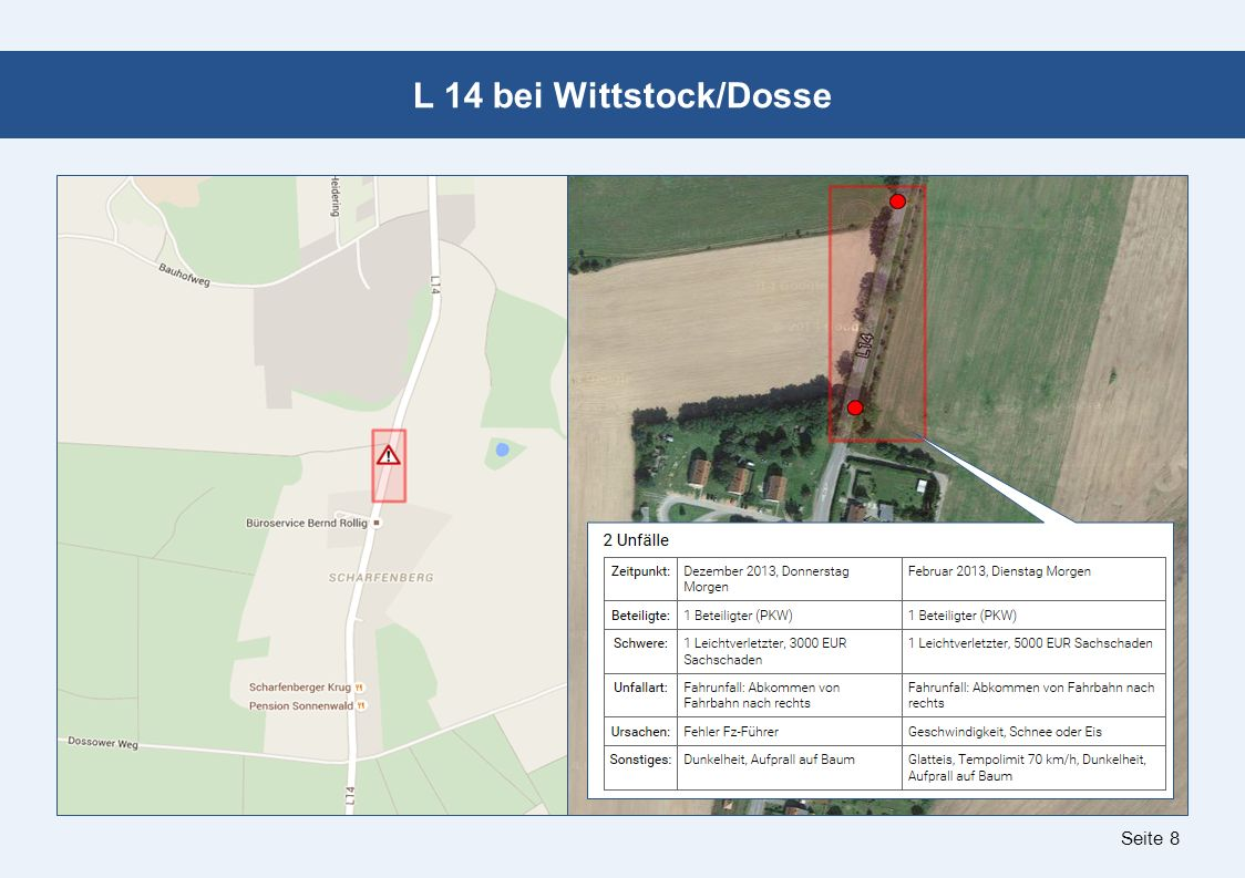 Seite 8 L 14 bei Wittstock/Dosse