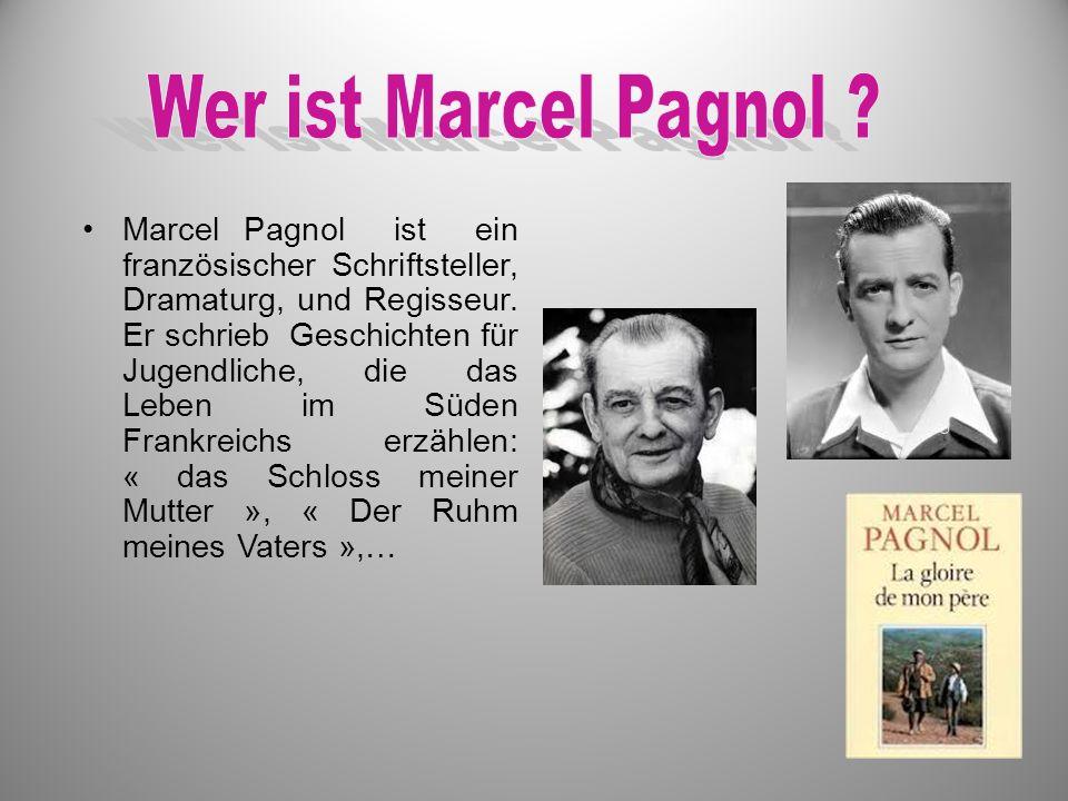 Marcel Pagnol ist ein französischer Schriftsteller, Dramaturg, und Regisseur. Er schrieb Geschichten für Jugendliche, die das Leben im Süden Frankreic