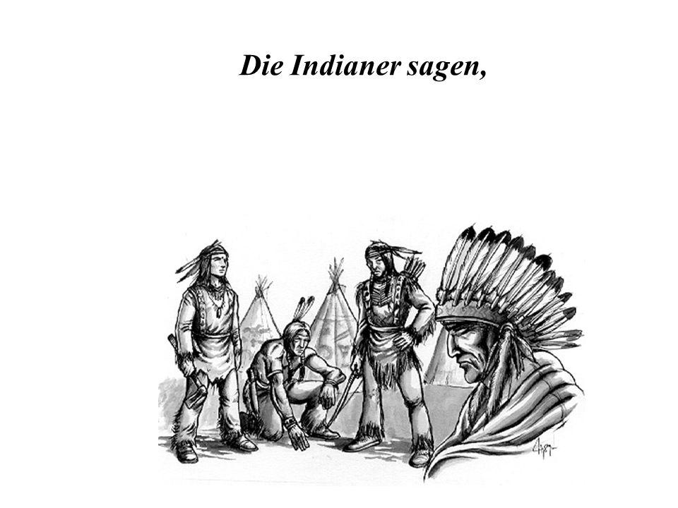 Die Indianer sagen,