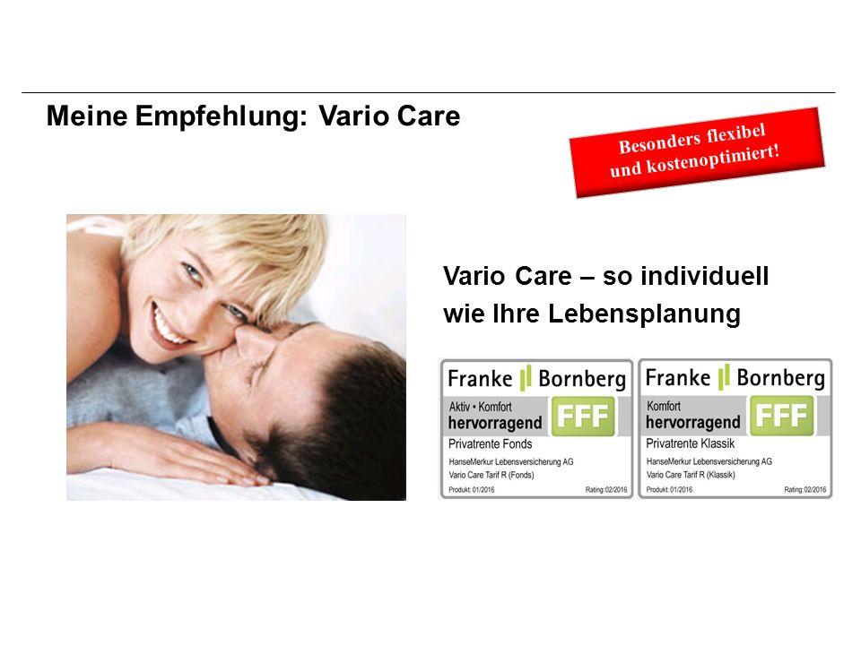 Vario Care – so individuell wie Ihre Lebensplanung Meine Empfehlung: Vario Care Besonders flexibel und kostenoptimiert!