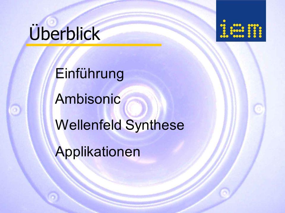 Ambisonic Wellenfeld Synthese Überblick Einführung Applikationen