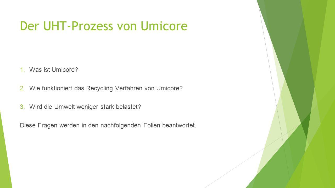 1.Was ist Umicore. 2.Wie funktioniert das Recycling Verfahren von Umicore.