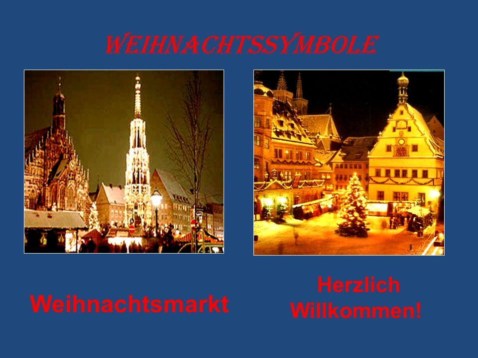 Weihnachtssymbole Weihnachtsmarkt Herzlich Willkommen!